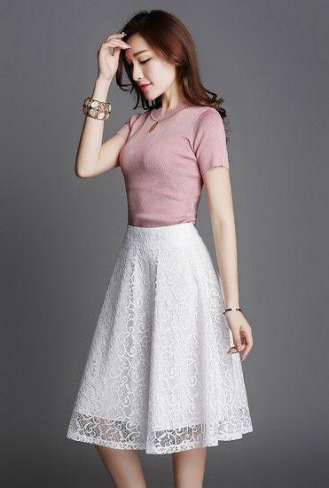 蕾丝镂空半身裙第1张
