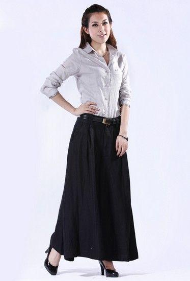 显瘦亚麻半身裙第7张