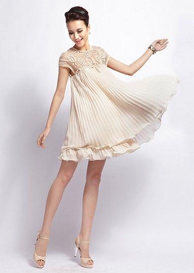 钉珠雪纺连衣裙第7张