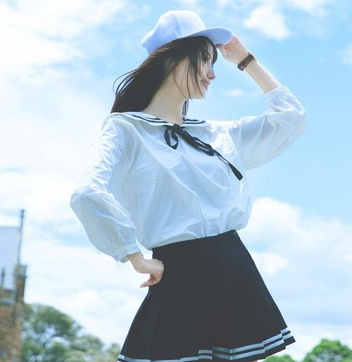 蝴蝶结系带白衬衫第3张