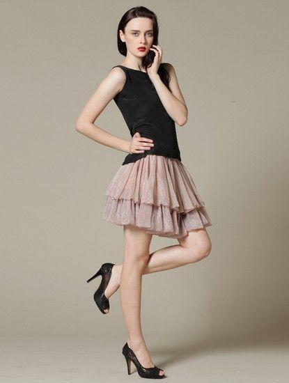 双层荷叶边雪纺蓬蓬半身裙第2张