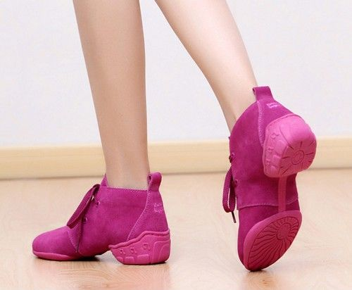 反绒皮系带舞蹈鞋第1张