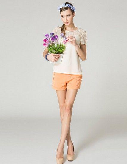 立体绣花短袖衬衫第1张