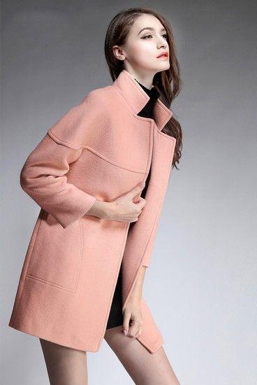 宽松茧型羊毛大衣第1张