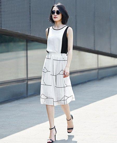 条纹雪纺半身裙第1张