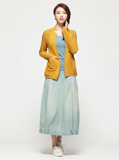 西装型长袖针织开衫第1张