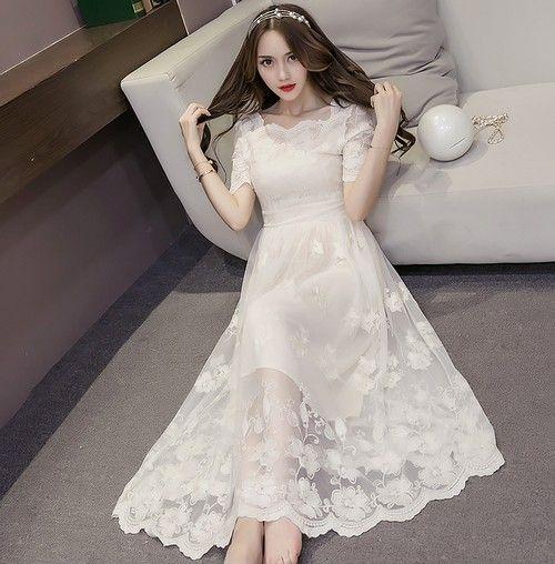 纯色印花长裙第1张