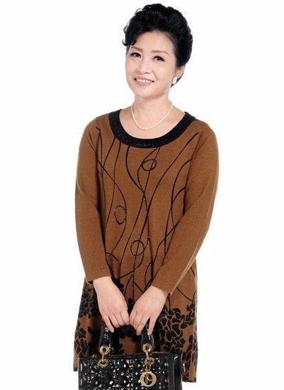 长款妈妈装羊毛毛衣第1张