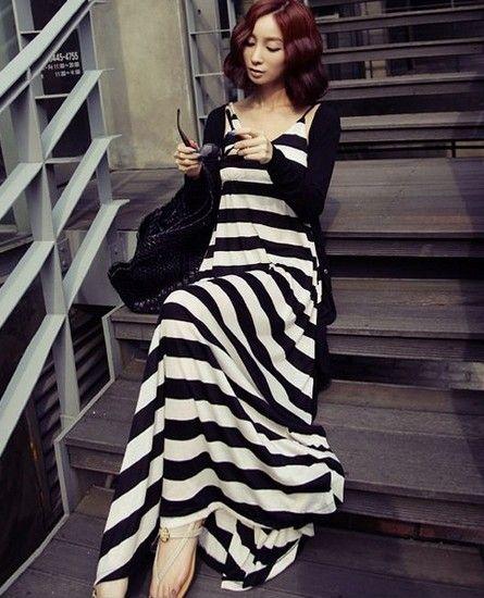 黑白条纹连衣裙第5张