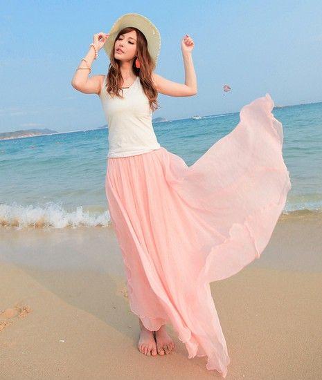 波西米亚雪纺半身长裙第1张