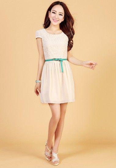 雪纺蕾丝连衣裙第2张