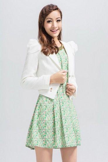 纯色修身短款外套第1张