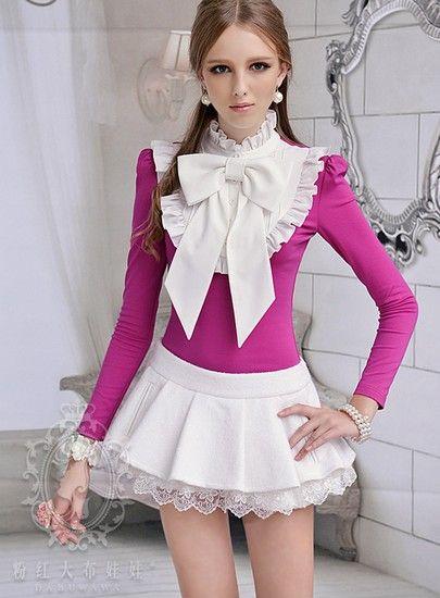 白色镶亮片蕾丝花边裙裤第1张