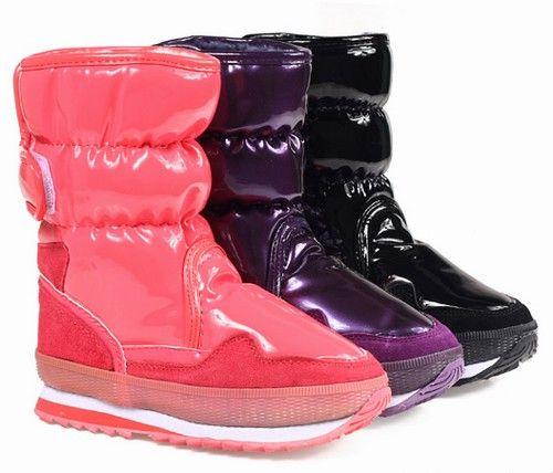 高帮牛皮儿童保暖靴第4张