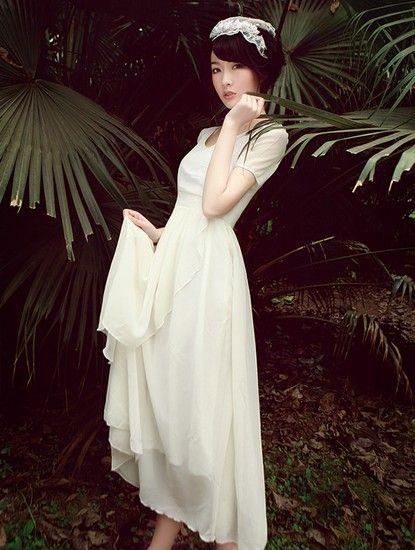 圆领雪纺连衣裙第6张