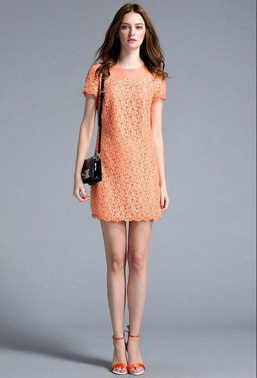 娃娃领蕾丝连衣裙第1张