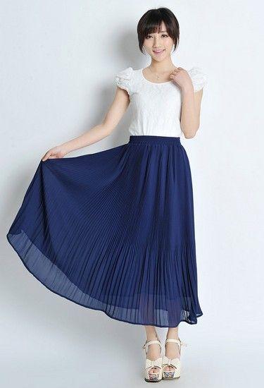 雪纺百褶半身裙第1张