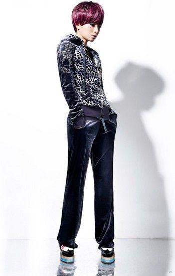 豹纹印花天鹅绒卫衣套装第1张