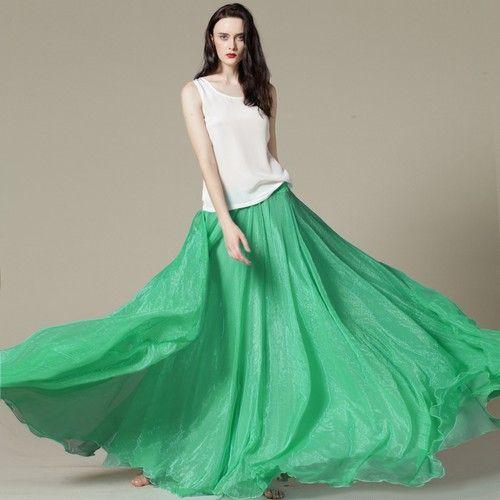 大裙摆纯色纱裙第3张