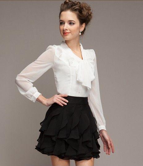 纯色雪纺半身裙第8张