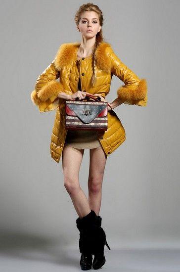 蕾丝狐狸毛喇叭袖皮衣外套第1张