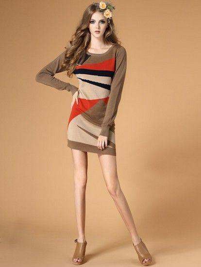 英伦风羊毛连衣裙第1张