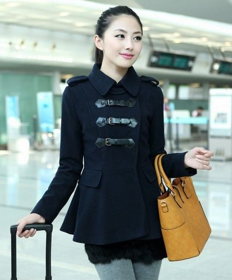 韩版复古呢子外套第1张