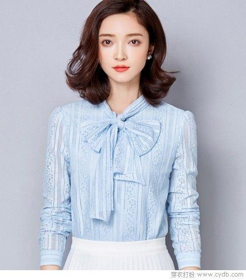 蝴蝶结蕾丝衬衫第1张