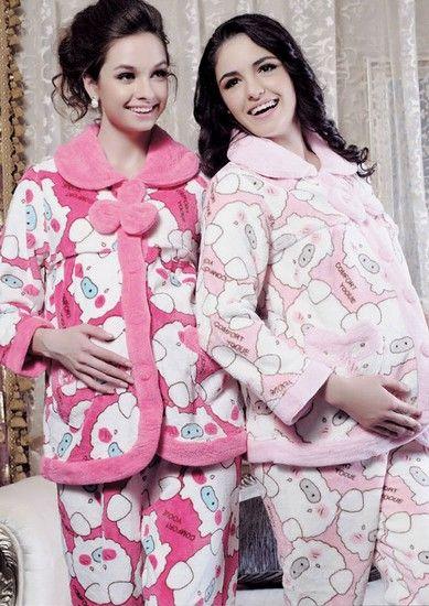 珊瑚绒孕妇睡衣第1张