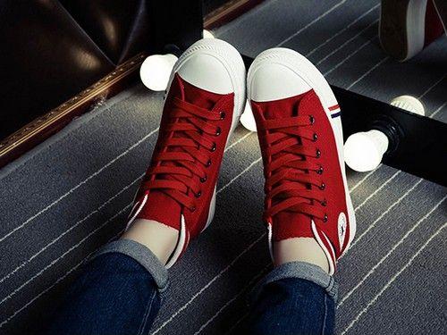平底高帮帆布鞋第1张