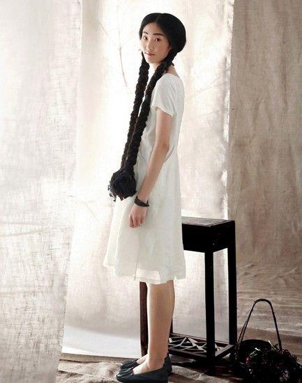 棉质拼接短袖连衣裙第8张