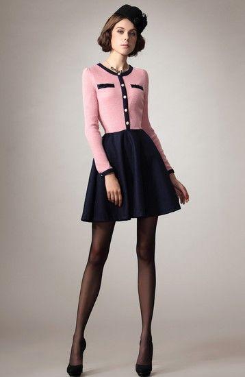 羊毛尼高腰连衣裙第1张