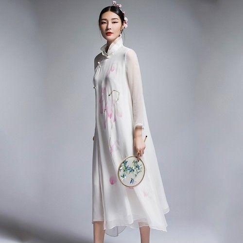 民族风印花连衣裙