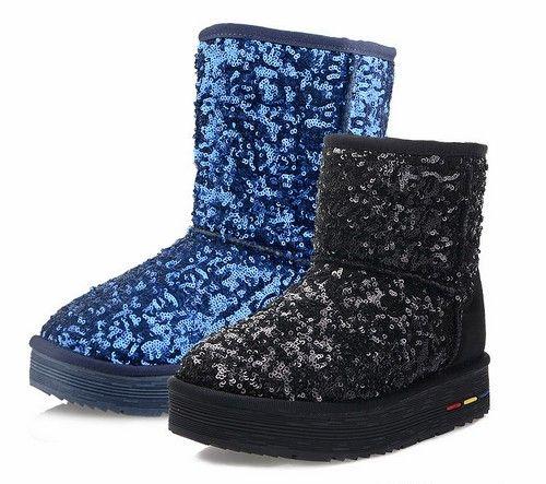 亮片内增高雪地靴第1张
