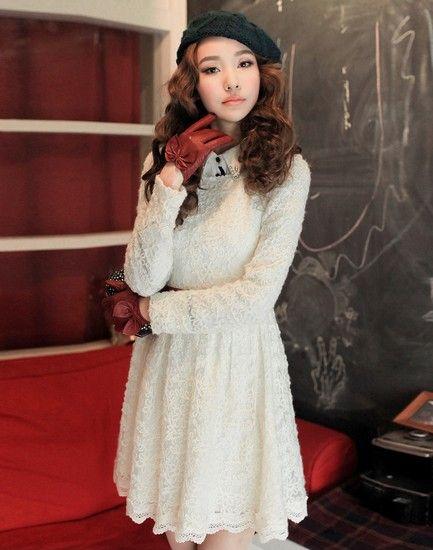 立体绣花蕾丝连衣裙第2张