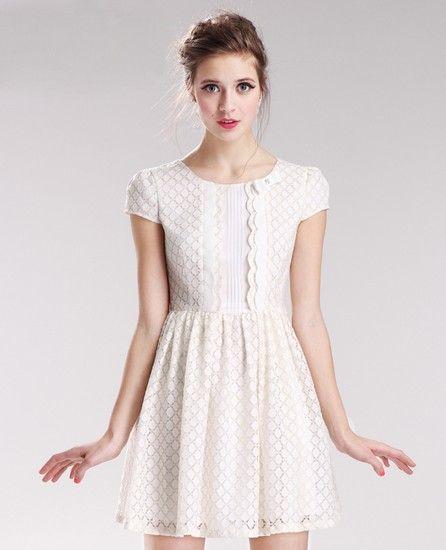 蕾丝短袖连衣裙第6张