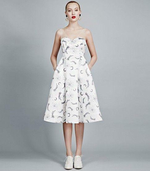 无袖长款印花礼服连衣裙第1张