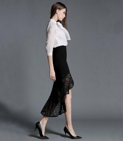中长款高腰鱼尾半身裙第1张