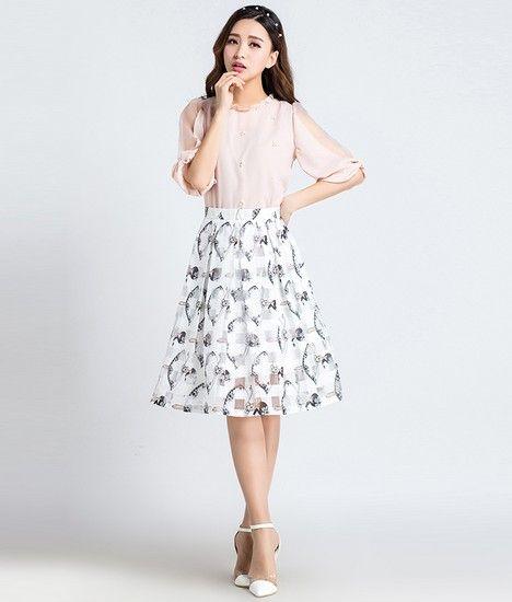 欧根纱半身裙第1张
