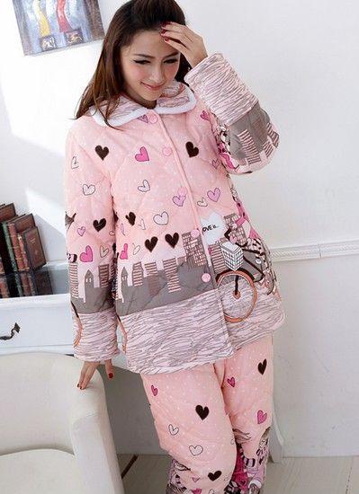 加厚珊瑚绒夹棉睡衣第1张
