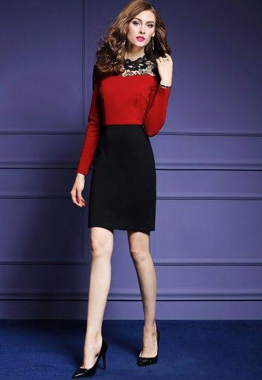 蕾丝镂空包臀裙第2张
