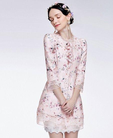 蕾丝刺绣印花外套第1张