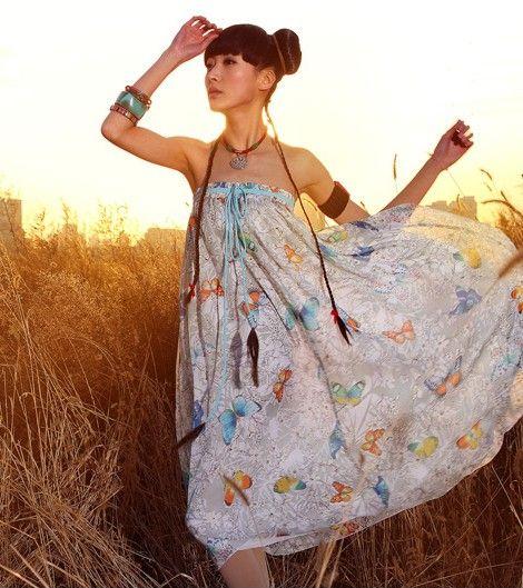 春装雪纺半身长裙第6张