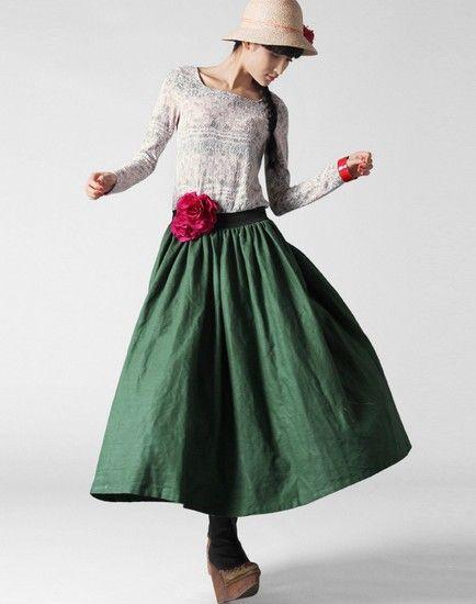 蕾丝盘花假两件大摆连衣裙第3张