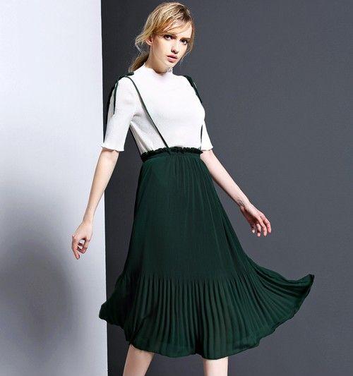 雪纺百褶裙套装第1张