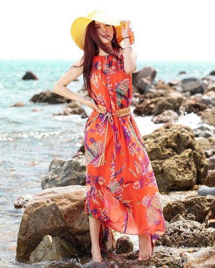 波西米亚风沙滩长裙第5张
