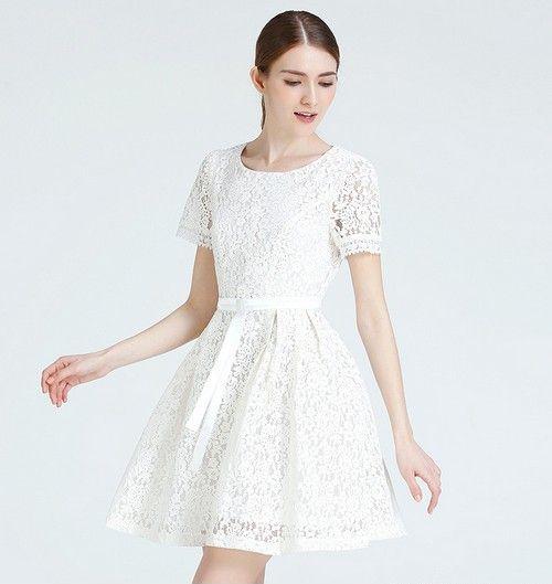 纯色镂空连衣裙第1张
