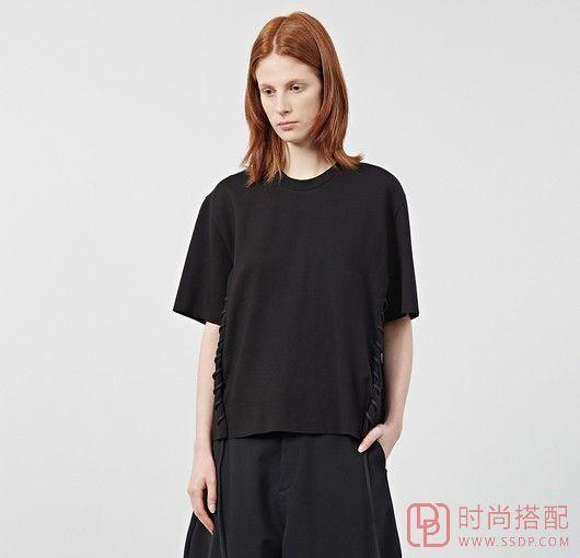 绑带宽松短袖针织衫第1张