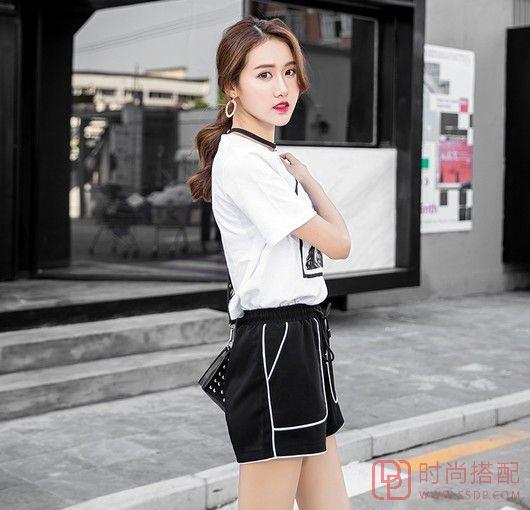 宽松系带运动短裤
