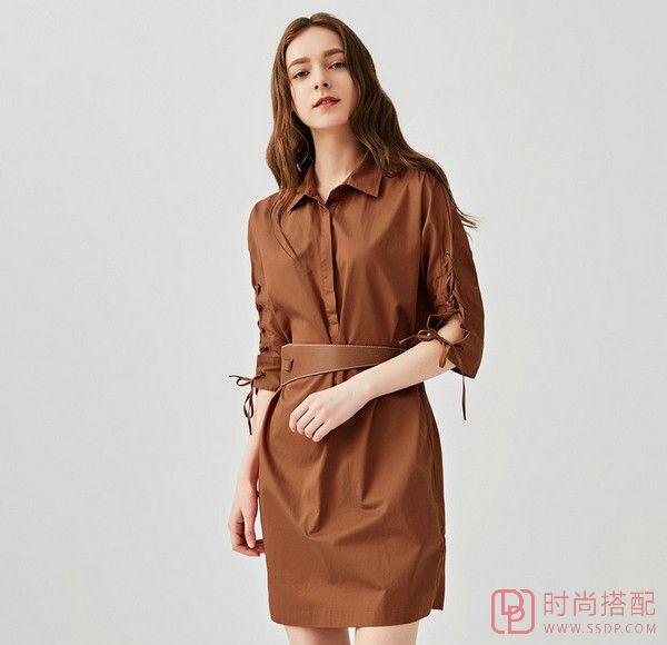 翻领中袖衬衫裙第5张